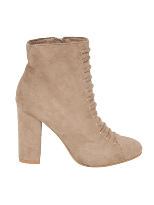 beige suede ankle boot - 14485716 - Standard Image - 2