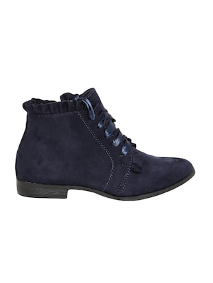 navy lace-up ankle  boot - 14485787 - Standard Image - 2