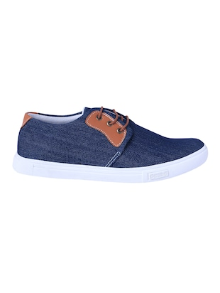 blue Denim lace up sneaker - 14486532 - Standard Image - 2