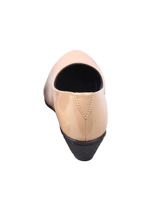 beige patent leather slip on formal shoes - 14489337 - Standard Image - 2