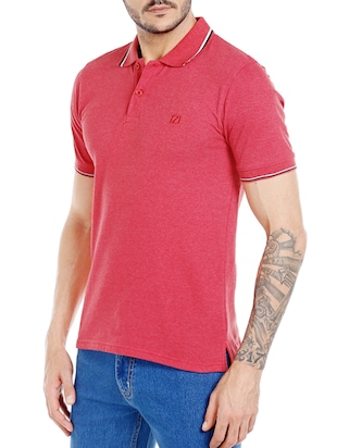 red cotton  t-shirt - 14491496 - Standard Image - 2