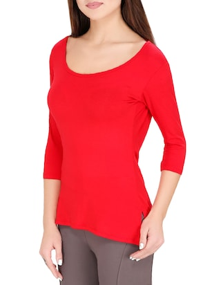 red solid top - 14493053 - Standard Image - 2