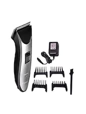 Kemei KM-6166 Cordless Trimmer  (Black, Silver) -  online shopping for Bath & Body