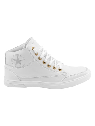 white leatherette sneaker - 14493669 - Standard Image - 2