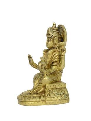 Decorative Brass Statue of Sitting Laxmi Devi Handicrafts Product - 14496457 - Standard Image - 2