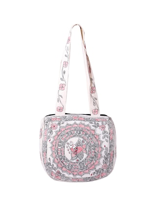 white cotton regular handbag - 14497288 - Standard Image - 2