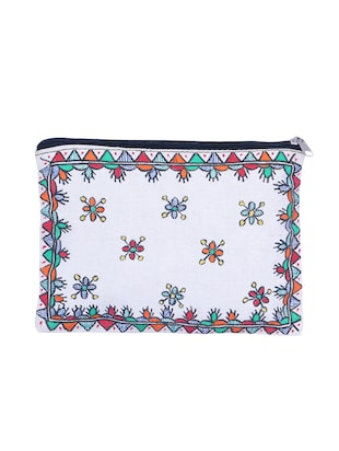 white cotton regular pouch - 14497348 - Standard Image - 2