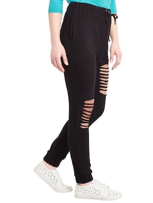 black cotton joggers - 14499588 - Standard Image - 2