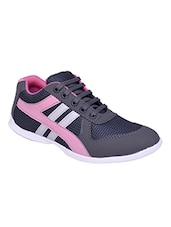 grey pvc laceup sports shoes -  online shopping for Sports Shoes