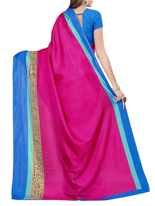 pink silk blend mysore saree with blouse - 14499738 - Standard Image - 2