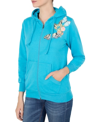 blue hooded sweatshirt - 14501289 - Standard Image - 2