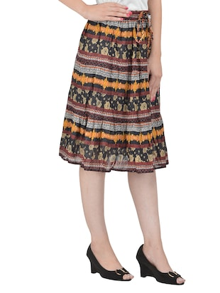 Multicolored flared skirt - 14501360 - Standard Image - 2