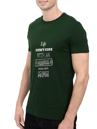 green cotton chest print tshirt - 14501607 - Standard Image - 2