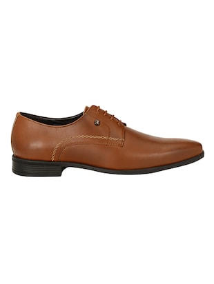 tan Leather formal derby - 14503237 - Standard Image - 2