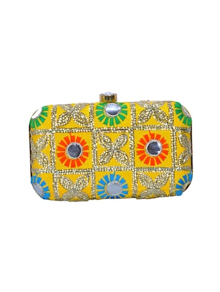 multi polyester box clutch - 14503981 - Standard Image - 2