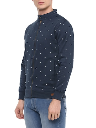 blue cotton all over print sweatshirt - 14504456 - Standard Image - 2