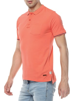 orange cotton t-shirt - 14504466 - Standard Image - 2