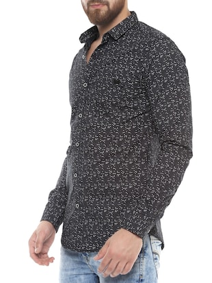 grey cotton casual shirt - 14504765 - Standard Image - 2