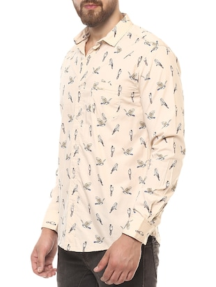 beige cotton casual shirt - 14504768 - Standard Image - 2