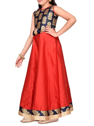 red silk blend party gown - 14505815 - Standard Image - 2