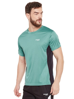 green polyester t-shirt - 14505887 - Standard Image - 2