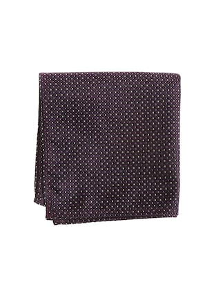 purple micro silk fabric tie with cuff link and pocket square - 14506787 - Standard Image - 2