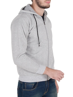 grey cotton sweatshirt - 14510083 - Standard Image - 2