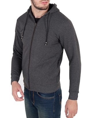 grey cotton sweatshirt - 14510085 - Standard Image - 2