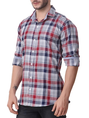 multi cotton casual shirt - 14510371 - Standard Image - 2