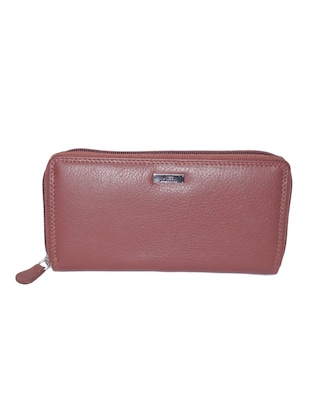 brown leather regular purse