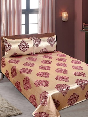 Printed PolyCotton Double Bed Cover