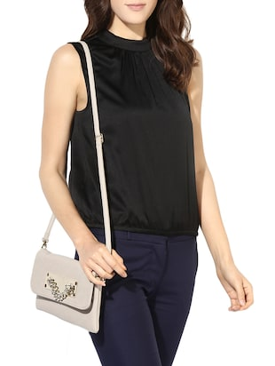 beige leatherette  regular sling bag - 14512830 - Standard Image - 5