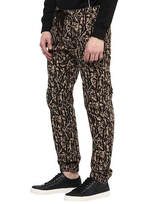 brown cotton  full length jogger - 14514181 - Standard Image - 2