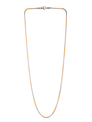 gold metal chain necklace - 14515923 - Standard Image - 2