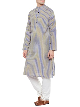 multi colored cotton long kurta - 14517393 - Standard Image - 2