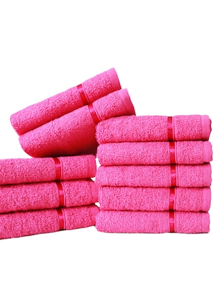 Pure Cotton Set of 10 Face Towel - 14519207 - Standard Image - 2