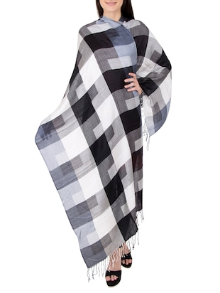 multi colored woolen stole - 14521433 - Standard Image - 2