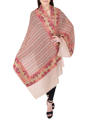 multi colored woolen stole - 14521452 - Standard Image - 2