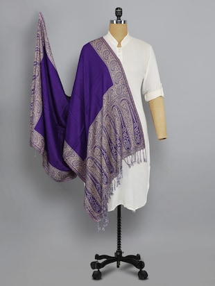 purple solid shawl