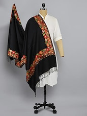 black woolen shawl -  online shopping for shawls