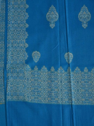 blue colored shawl - 14521647 - Standard Image - 2