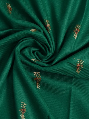 green embroidered shawl - 14521707 - Standard Image - 2