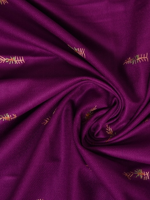 Purple embroidered shawl - 14521708 - Standard Image - 2