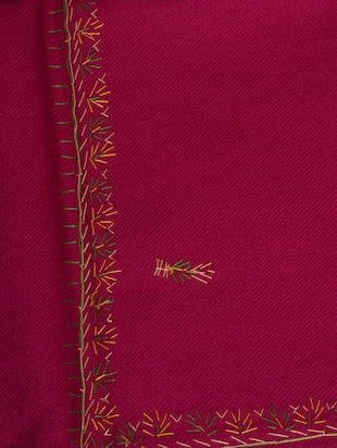 pink embroidered shawl - 14521711 - Standard Image - 2