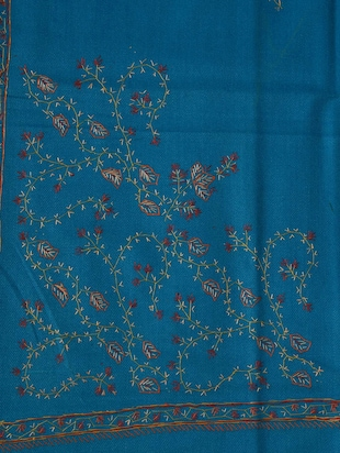 Blue embroidered shawl - 14521718 - Standard Image - 2