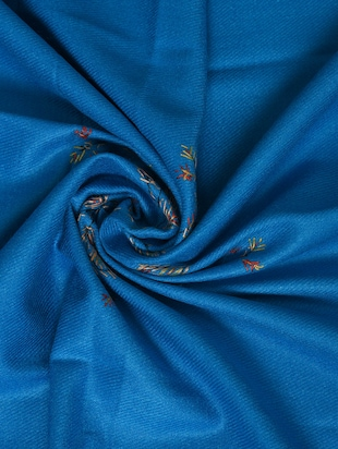 blue embroidered shawl - 14521720 - Standard Image - 2