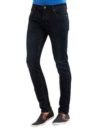 blue cotton washed jeans - 14525621 - Standard Image - 2