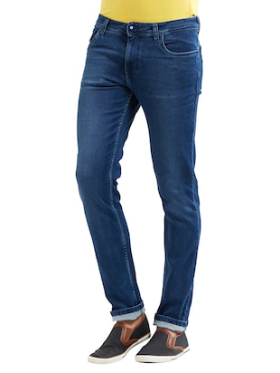 blue cotton washed jeans - 14525638 - Standard Image - 2