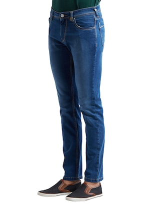 blue cotton washed jeans - 14525663 - Standard Image - 2