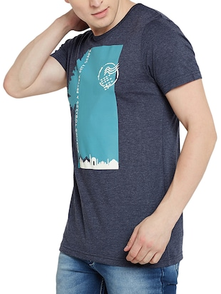 navy blue cotton t-shirt - 14526680 - Standard Image - 2